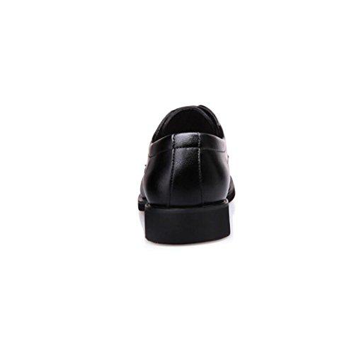 zmlsc Casual Hommes Chaussures en Cuir d'affaires Ronde Souple Point Point Ruban Saison Couleur Toile Sport Sandales Bottes Black rQy3bW