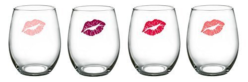 James Scott Girlfriends Stemless 15 Oz. Lead Free Wine Glasses Set of 4. The unique wine glasses are top gifts for birthday gifts ,wedding gifts , bridal shower gifts as well as housewarming gifts!