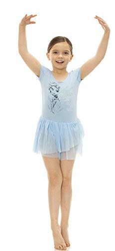 Disney Princess Toddler Girls' Ballet Frozen Elsa Blue Short Sleeve Dress (4T)