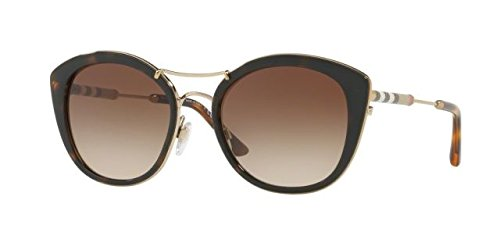 Burberry BE4251Q 300213 Dark Havana BE4251Q Round Sunglasses Lens Category 3 - Unisex Sunglasses Burberry