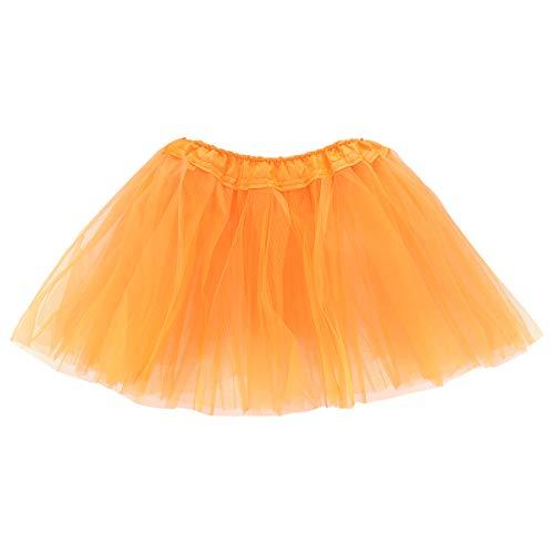 belababy Girl Skirts 3 Layers Organza Baby Tutu, 31 Colors Orange 2-8 -