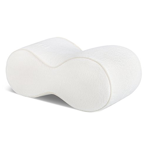 Knee-Pillow-for-Sciatica-Relief-Back-Pain-Leg-Pain-Pregnancy-Hip-and-Joint-Pain-Sciatic-Nerve-Pain-Relief-Memory-Foam-Wedge-Contour-with-Washable-Cover-White