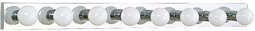 Sea Gull Lighting 4740-05 Center Stage Eight-Light Vanity Bar, Chrome Finish - Chrome Vanity Bar