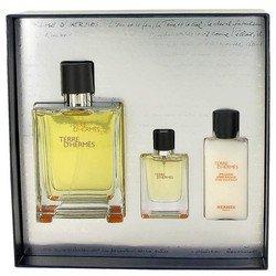 Terre D'Hermes by Hermes Gift Set -- 3.3 oz Eau De Toilette Spray + .42 oz Mini EDT Spray + 1.35 oz After Shave Balm (Men)