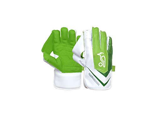KOOKABURRA Unisex-Youth 2020 LC 5.0 Wicket Keeping Gloves, White/Green