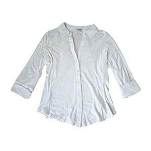 Best Epic Trends 31Me9FXLJIL._SS300_ James Perse Women's Side Panel Shirt, White, 3