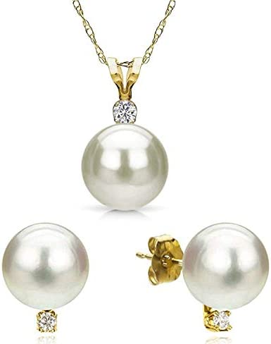 Freshwater Cultured Necklace Earrings Jewelry product image
