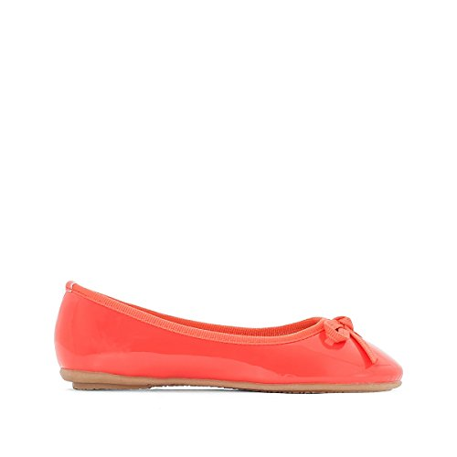 La Redoute Collections Big Girls Patent Ballet Pumps Coral hqXclg