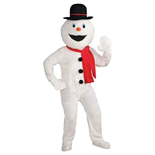 Forum Novelties Men's Deluxe Snowman Mascot Costume, Multi, One Size
