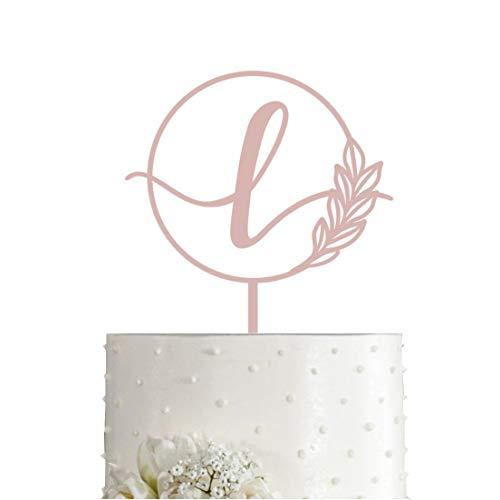 Buy monogram l wedding cake toppers
