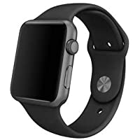 Pulseira Sport Tamanho Feminino Preto Compativel com apple watch de 38mm e 40mm