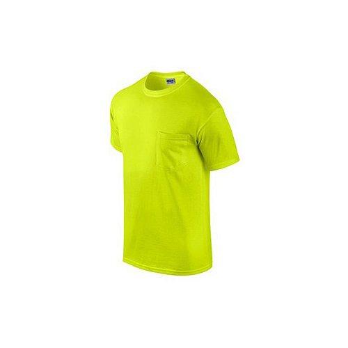 gildan usa inc g2300grn-xl 2 Pack, Adult, Extra Large, Safety Green, Short Sleeve Pocket Tee Shirt