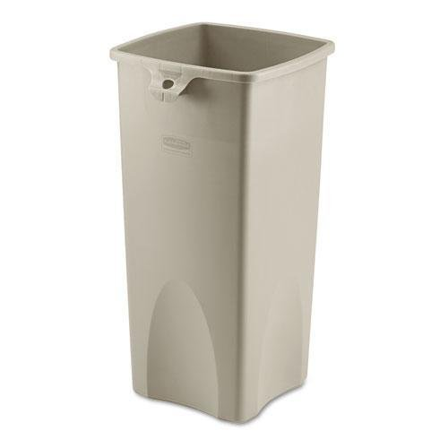 RUB356988BG - Square Waste Container, 23 Gal, 14-1/2x14-1/2x28, Beige ()