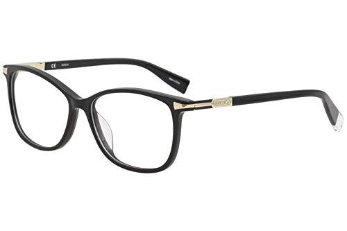 Furla Women's Eyeglasses VFU026 VFU/026 Full Rim Optical Frame 54mm (Black)