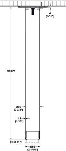 34 1/2'' Hafele Table Legs Set of 4, Steel, Black by Hafele (Image #1)