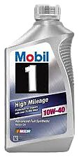Mobil 1 103536 10W-40 High Mileage Motor Oil - 1 Quart (Pack of 6)