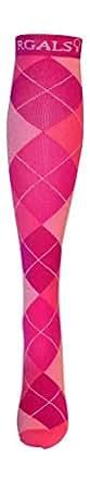 RGALS Women's 20-30 mmhg Athletic Compression Socks M 6.5 - 8 US Pink
