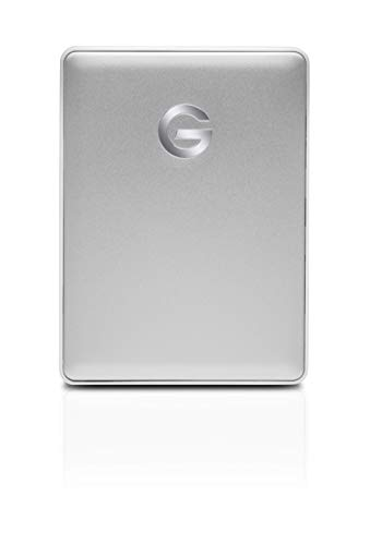 G-Technology 4TB G-DRIVE Mobile USB-C (USB 3.1) Portable External Hard Drive, Silver - 0G10348 (Password Protect External Hard Drive Windows 7)