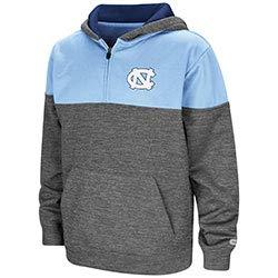 Colosseum North Carolina Tar Heels Youth 99 Yards 1/4 Zip Hooded Sweatshirt - Light Blue, Youth - Youth North Carolina Fleece Pullover