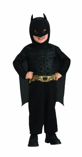 Batman Costume 12 Month Old (Batman The Dark Knight Rises Batman Costume, Black, Infant)