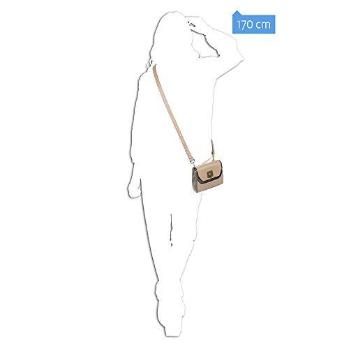 Piquadro Borsa Donna Collezione Andromeda, Pelle, Beige, 16 cm