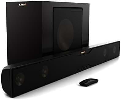 Klipsch R-20B Bluetooth Soundbar with Wireless Subwoofer (Satin Black)