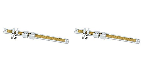 Quartet Map Hook with Clip, One Inch, for Map Rail, 2 Packs -