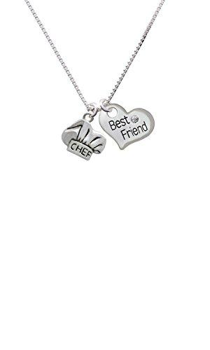 Chef Hat - Best Friend Heart Necklace