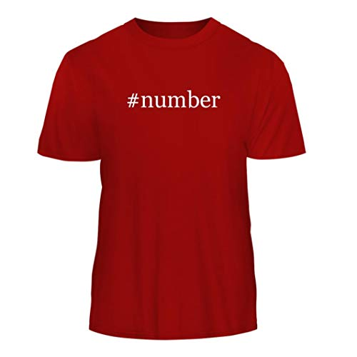 #Number - Hashtag Nice Men's Short Sleeve T-Shirt, Red, X-Large