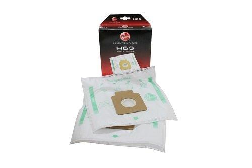 Genuine Hoover H63 EPA Filtration - Sachetti aspirapolvere, Confezione da 4 [Classe di efficienza energetica A] Home 35600536#1