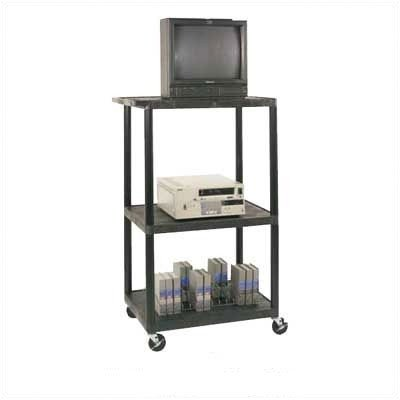 (LP Carts Series AV Cart with Locking Cabinet Size: 54