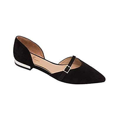 Linea Paolo | Demi | Delicate Two Piece Pointy Toe Ballet Flat in Patent or Suede (New Fall)