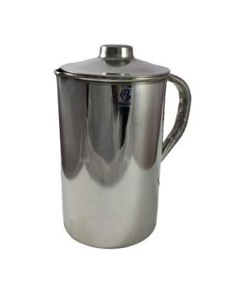 Brigo Stainless Steel Water Jug, Pitcher with Lid 2 LTR.