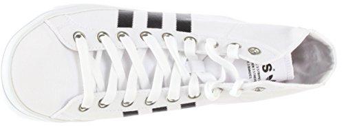 Adidas Mannen Courtvantage Mid Fashion Sneakers Ftwht / Cblack / Metsil