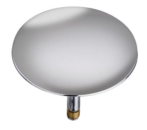 Wenko 21849100 Badewannenstöpsel Pluggy XXL Abfluss-Stopfen, für alle handelsüblichen Abflüsse, Messing, 7,5 x 6 x 7,5 cm, chrom