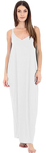 Strappy Cami White Size Maxi Lagenlook Baggy Selfie Click Spaghetti Drape Dress 22 Plus Ladies New 4 xqFHZ0