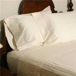 Amazon Com Stripes Ivory 600 Thread Count Olympic Queen