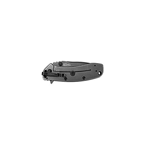 """Kershaw Cryo II BlackWash (1556BW), 3.25"""" 8Cr13MoV Stainless Steel Blade; 410 Stainless Steel Handle, SpeedSafe Assisted Opening, Frame Lock with Stabilizer, 4-Position Deep-Carry Pocketclip; 5.5 OZ"""