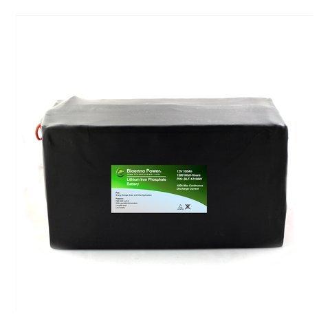 Bioenno Power 12V, 100Ah LFP Battery (PVC, BLF-12100W)