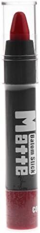マットリップスティック プロ用 美容技師 保湿 ベルベット リップスティック マット リップクレヨン 全5色選べ - #D