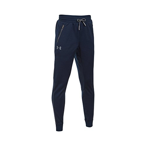 Under Armour Boys' Pennant Tapered Pant, Midnight Navy/Graphite, Youth Medium