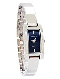 Ferenzi Women's | Elegant Silver-Tone Rectangle Bracelet Watch | HA0269