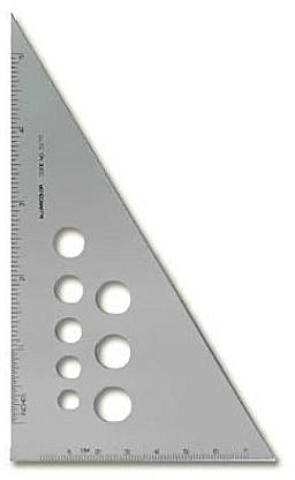 Alumicolor Aluminum Calibrated Triangles - 30/60/90 1 pcs sku# 1829024MA