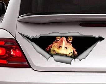 Jar Jar Binks Decal, car Decal, Star Wars Decal, Star Wars Sticker Vinyl Decal Sticker for Cars, Trucks, Windows, Walls, Laptops 11