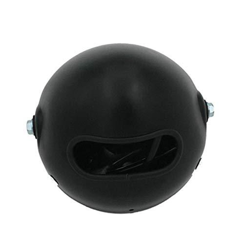 Fari per moto Accessori moto CG125 Retro fari modificati GN125 Black Shell Metallo 6 pollici fari faro rotondo Fari moto
