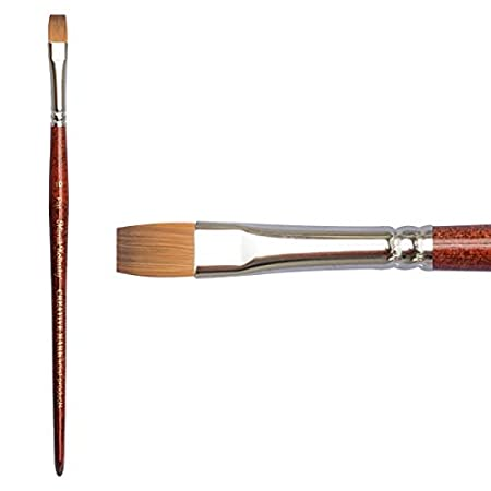 Round #8 Creative Mark Mimik Kolinsky Professional Artist Synthetic Sable Short Handled Brush