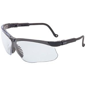 Uvex S3200X Genesis Safety Eyewear, Black Frame, Clear UV Extreme Anti-Fog Lens