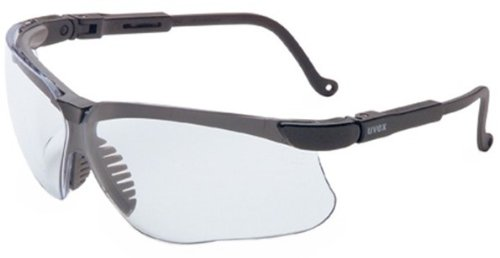 Uvex S3200X Genesis Safety Eyewear, Black Frame, Clear UV Extreme Anti-Fog Lens
