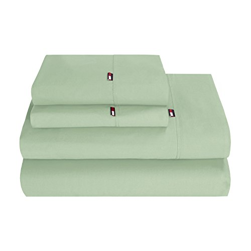 Seagrass Sheets (Tommy Hilfiger 22TH5464 Signature Sheet Set, King, Seagrass)