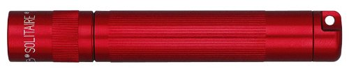 (Maglite Solitaire Incandescent 1-Cell AAA Flashlight Red - K3A036)